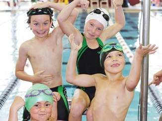 Angelina Fortunato, Ezekiel Gianinetti, Aguirre Jackson and Ryann Mergelman all raced in the eight-and-under division at the Western Slope Championships.