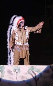 During the Range Call Pageant on Thursday night, Ute Chief Ouray makes a plea to his people to follow his orders and not get involved with the uprising that ended with the Meeker Massacre.
