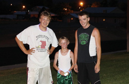 The second annual Rangely Glow Run was held Friday night, and the competition ended in a three-way tie at 25 minutes, 30 seconds. The winners were junior Chance Sheppard, junior Daniel Connor and fourth-grader Andrew Dorris. The run was the brainchild of RHS volleyball coach Jimmie Mergelman.