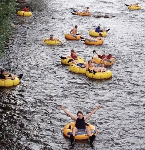 The team also enjoyed a tubing adventure down the Yampa River in Steamboat Springs.