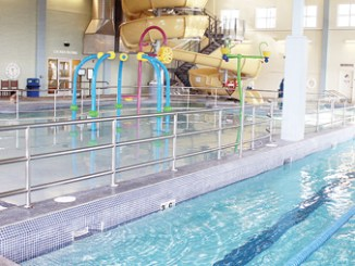 One way to earn stamps is by completing individual workouts or taking fitness classes at MRC's state-of-the-art aquatics facility. With an annual membership, pool access during regular business hours is free and select fitness classes (both land- and water-based) are discounted.