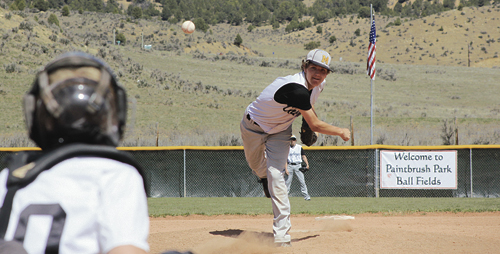 """Meeker senior pitcher Matt Frantz started against Hotchkiss in the first game of a doubleheader, in which the Cowboys lost both games. Meeker head coach Jason Browning said, """"We play in a tough league, but I thought we competed well."""" The Cowboys played in Paonia Tuesday, then they will play in Grand Valley tonight."""