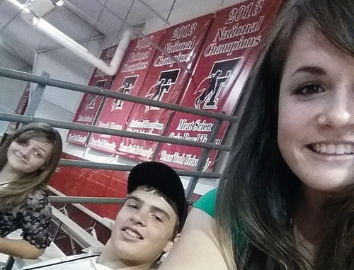 """In this """"selfie"""" taken at Texas Tech University in Lubbock, Texas, are three members of the Rio Blanco County 4-H team, from left, Samantha Lapp, Ty Dunham and Madi Shults. The team was invited to Fort Collins and Colorado State University and to Texas Tech for visits in early June."""