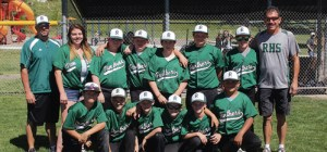 "Rangely's 11-12 year-old baseball team won the recreational league tournament June 26-27 in Meeker and capped off an undefeated (11-0) season. ""Hard work pays off,"" coach Jerry LeBleu said. ""It was a fun season. The boys worked hard to improve their skills every practice and it showed in the end. Hats off to coaches Richard and Sierra Brannan, it was a good season for all."" Pictured in front are: Justin Cudo, Braxton Moore, Andrew Dorris, Josh Dunn, Anthony Dorris and Luis Lopez. Standing are: coach Richard Brannan, assistant coach Sierra Brannan, Byron Mackay, Austin Davis, Brent Cantrell, RJ Richens, Dylan LeBleu and coach Jerry LeBleu."