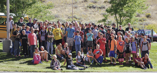Going beyond the blackboard, Rangely Junior High School students had the opportunity to travel to Jones Hole, Utah, recently to apply the concepts learned in math, science and history while exploring the great outdoors.