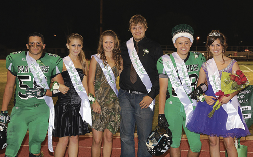 Kiki Ruiz, Justyne Dembowski, Echo Campbell, Chance Sheppard, Jessy Powell and Courtney Bell were the homecoming court members with Powell and Bell named king and queen.