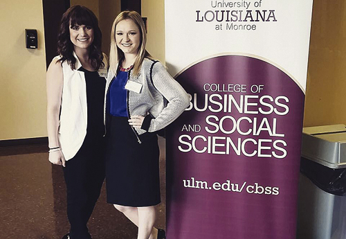 University of Louisiana-Monroe Risk Management and Insurance majors Lexie Meszaros, left, and Lauren Lewis, right, have been selected for the prestigious National Association of Professional Surplus Lines Offices, Ltd, (NAPSLO) summer 2016 internship program.