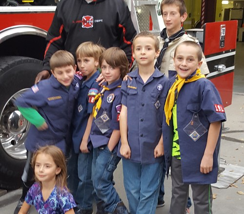 "The Rangely Cub Scout Packs 189 and 191 visited the Rangely Fire Station recently and would like to thank Andy Shaffer and Carlton ""for the best tour ever!"" courtesy photo"