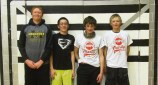 "Seventh- and eighth-grade boys' champion team: ""LBJR"" consisting of Ryan Phelan, Brayden Garcia, Jeremy Woodward and Lane Anderson. The team donated to the Meeker Animal Shelter."