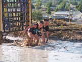 Jen Hill photo Neck and neck in the Muddy Dip N Dash race.