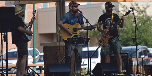 Popular local band Casserole Beans performed for the crowd during the Jammin' Lamb culinary competition in downtown Meeker. Caitlin Walker