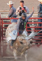 Bobby Gutierrez Photo The eighth annual CNCC Rock 'n' Bull event was full of thrills and spills again.