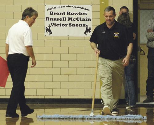 b phmkvball coach sweeping