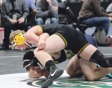 "Sophomore Jake Shelton won a match in the 152-pound bracket in his first ""Big Show."""