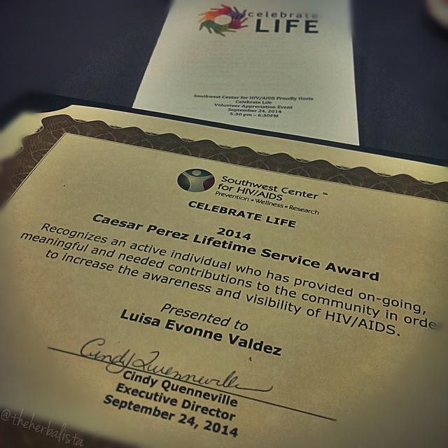 Caesar Perez Lifetime Service Award