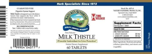 Milk Thistle Time Released (60 tablets)