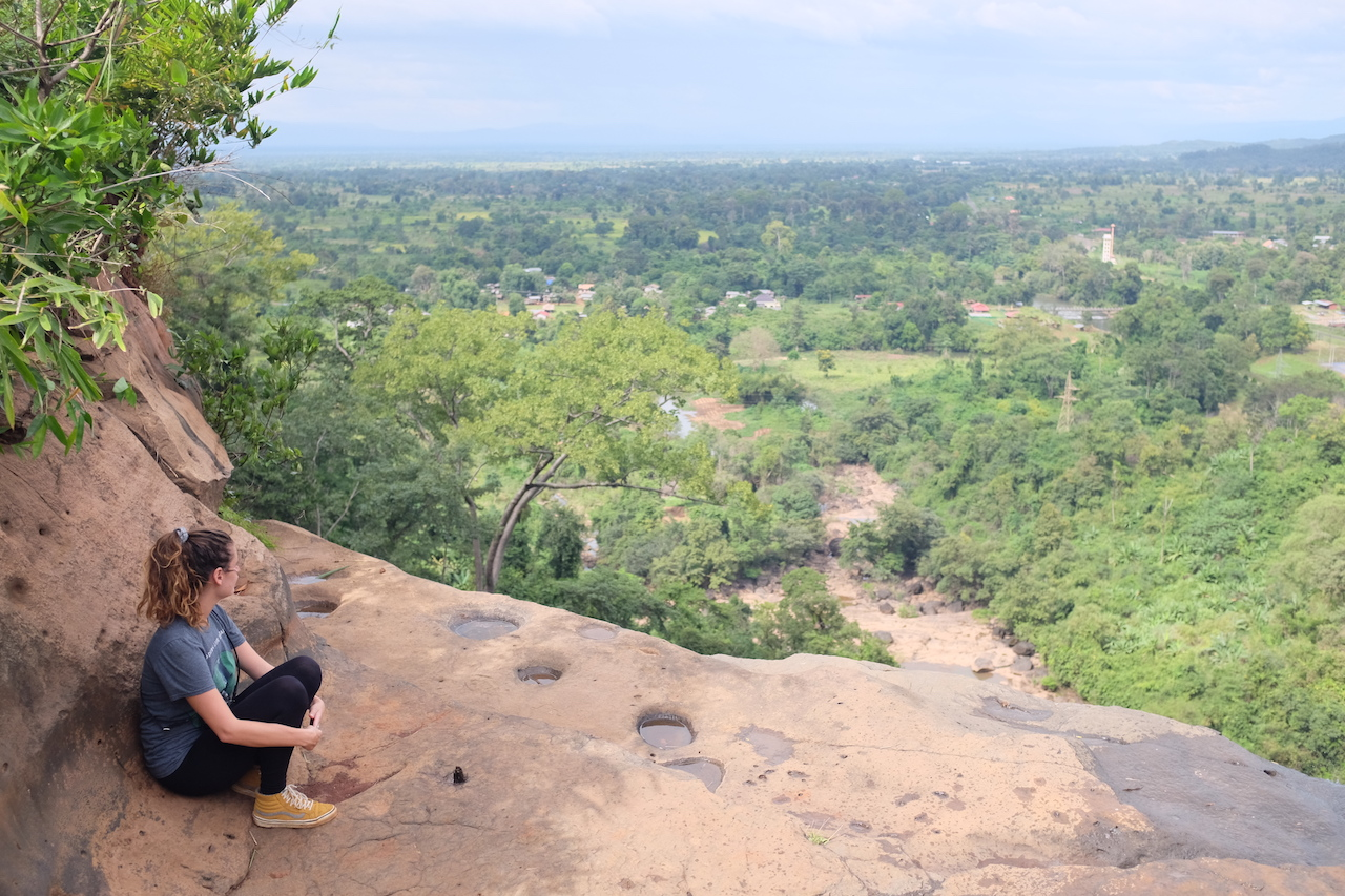 Stunning view from the top of Tad Soung waterfall (Bolaven Plateau, Laos)