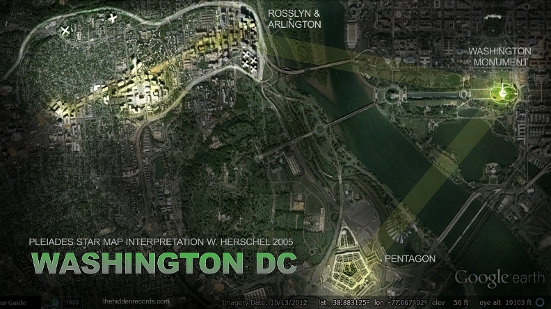 Washington DC Pleiades star map