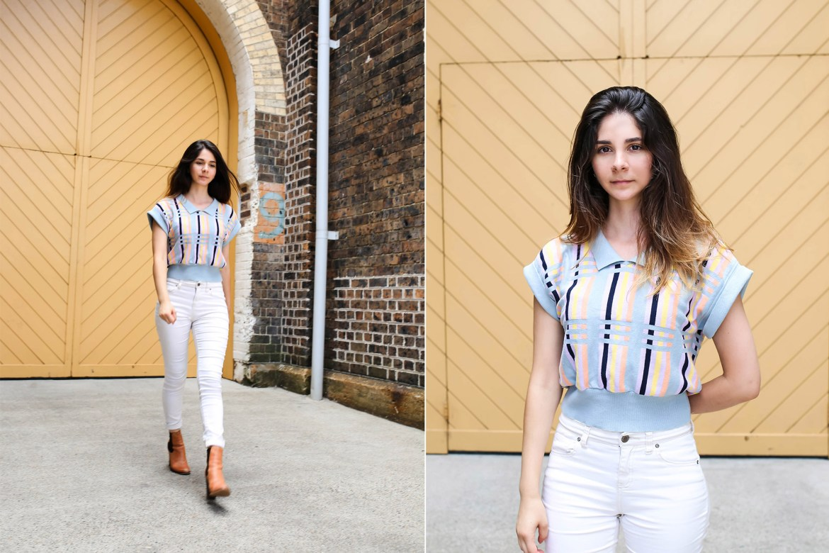 Fashion Look | Retro Vibes - Top: Larmoni | Jeans: Forever 21 | Shoes: Wittner