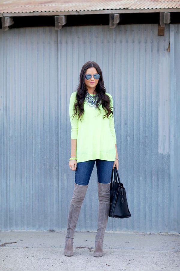 Over-The-Knee Boots and Skinny Jeans