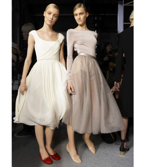 Classic Ballet Flats Paired with Slightly Sheer and Light Weight Midi Dress for a more Elegant Look Worthy for a Night Out