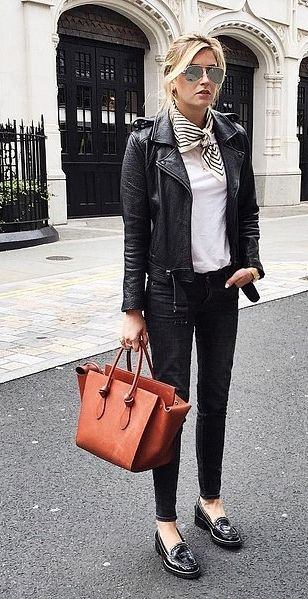 how to wear women's loafers Simple Street Style