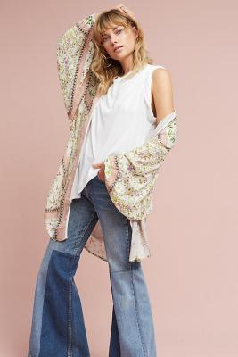 What to Wear to a Music Festival Outfit Bohemian Duster Kimono Lite Floral