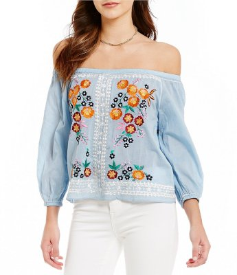 What to Wear to a Music Festival Outfit Bohemian Light Blue Top