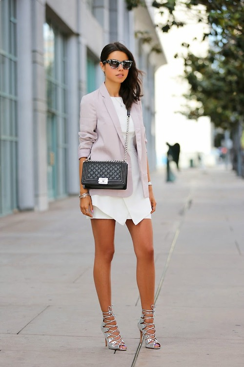How To Wear Gladiator Sandals with blazer
