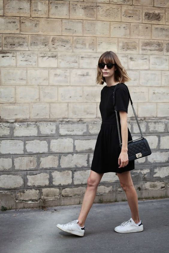 athleisure for work sneakers and formal dress
