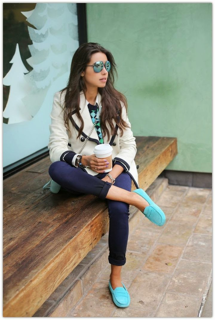 cute outfits with boat shoes loafers