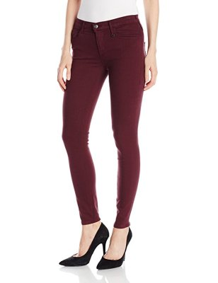 True Religion Women's Joan Smalls X Mid Rise Legging In Burgundy