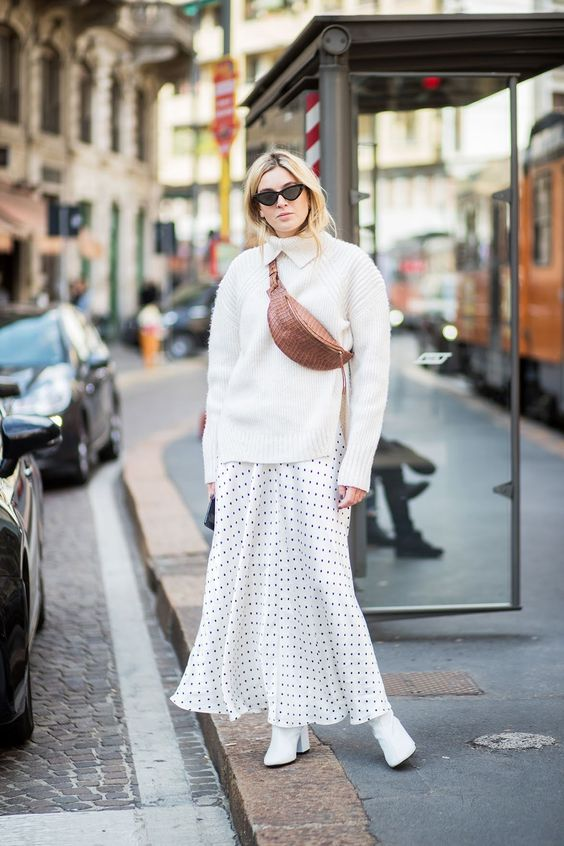 skirt trends polka dots long skirt