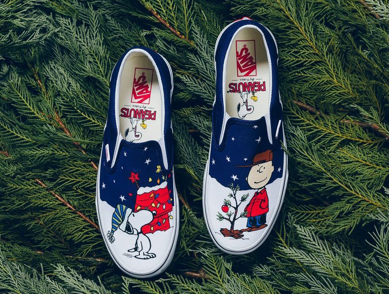Vans Slip-On Peanuts Charlie Brown Christmas