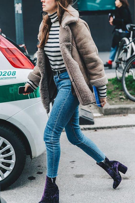 velvet boots shearling jacket