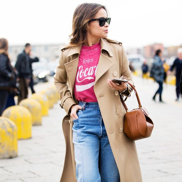 boyfriend jeans trench coat