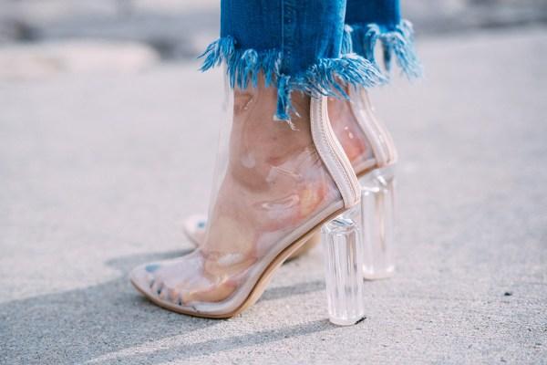See-through heels