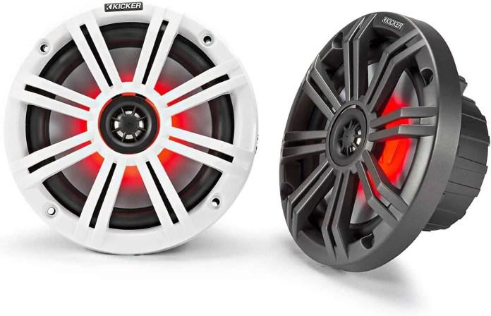 Kicker KM65 6.5-Inch Marine Coaxial Speakers