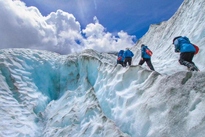 bergbeklimmen gletsjer
