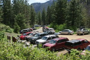 Ingalls Lake Emerald Basin Longs Pass parking area