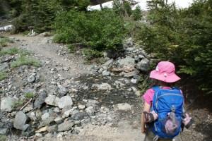 esmerelda basin trail, hiking with kids