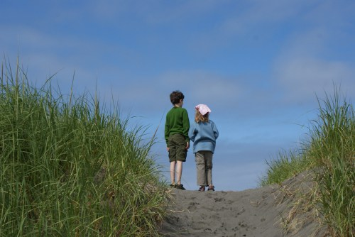 Twin Harbors State park, Westport, Washington Coast, kids at the beach, nature with children