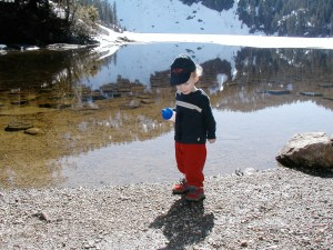 hiking with children, Boardman lake, children in nature