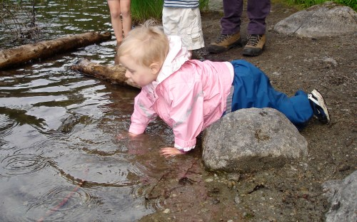 baby hiking, hiking with toddlers, kid rain gear