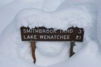 winter hiking, snowshoeing, Smithbrook Road