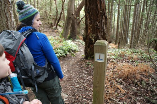 trail signs, washington park, anacortes