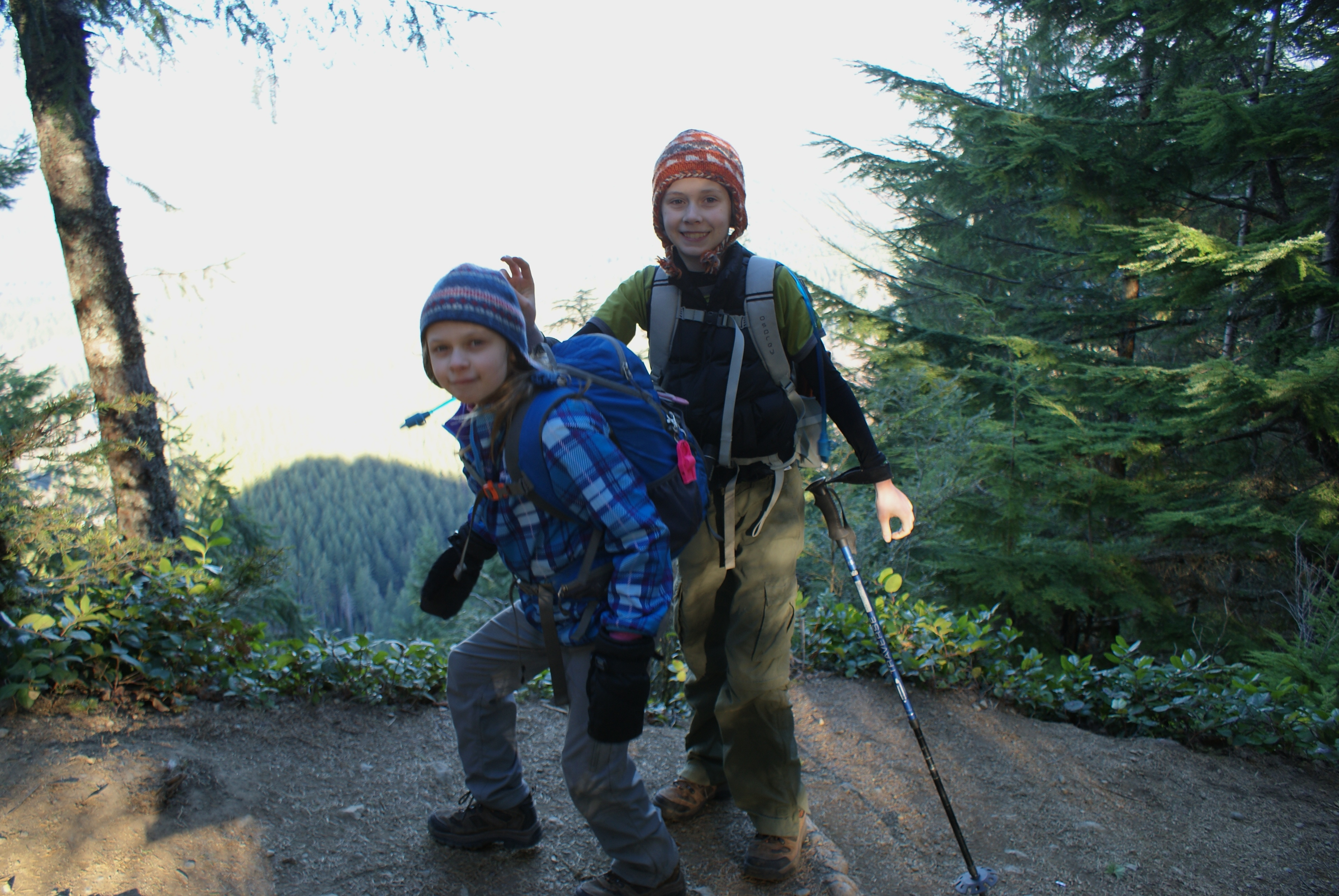 hiking with children, north bend, cedar butte trail, winter hikes washington