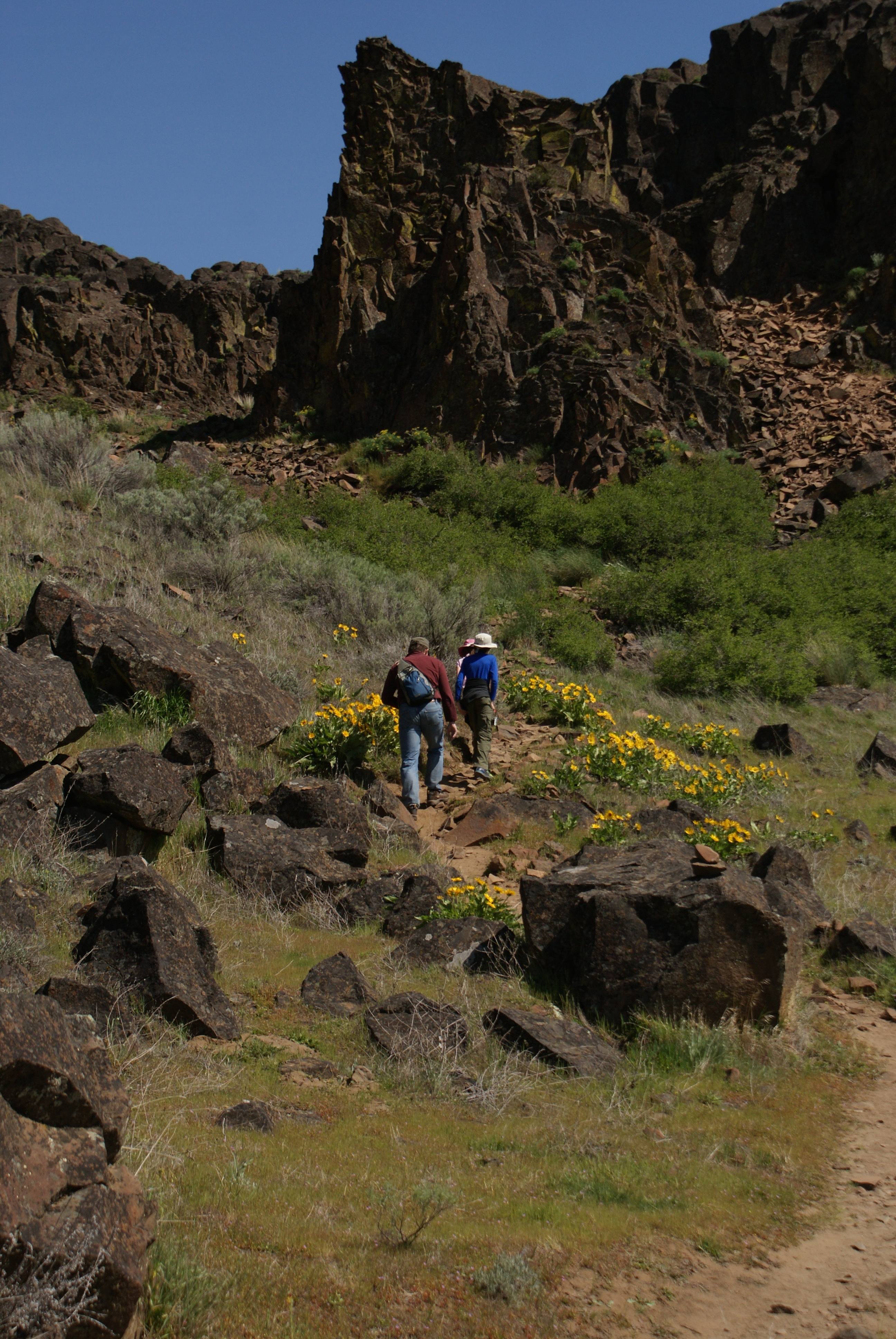 horsethief butte, columbia hills state park, desert hiking washington