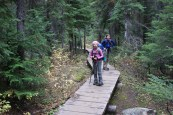 blue lake trail, north cascades, hiking with children