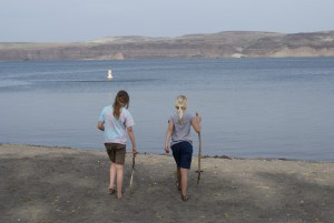 Wanapum Recreation area, Columbia River, nature with children